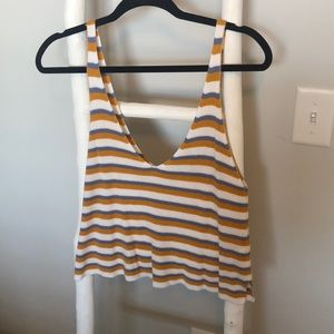 Stripped Knitted Tank Top